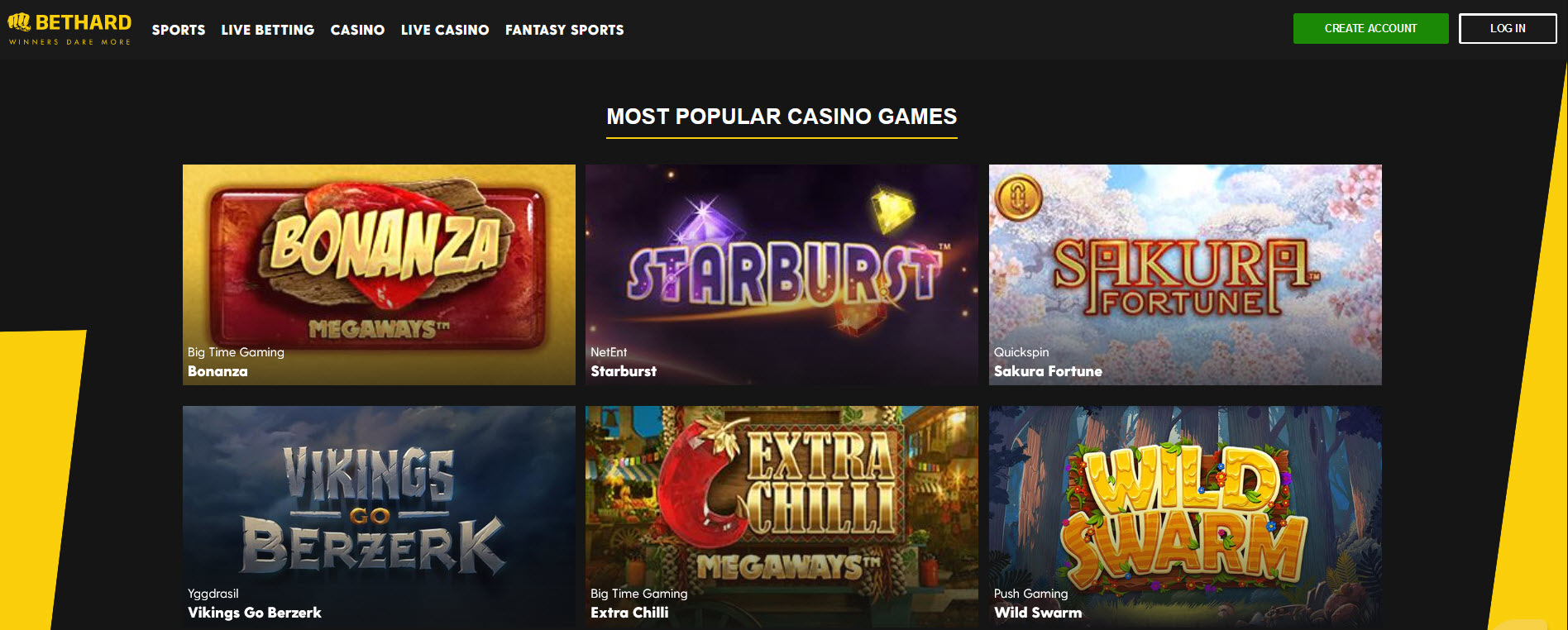 bethard casino screenshot
